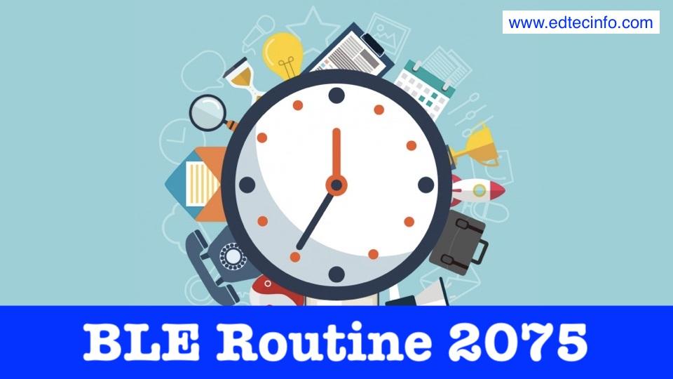 Grade 8 BLE Routine 2075 | EdTecInfo
